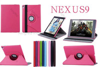 100pcs/Lot for Google Nexus 9 360 Degrees Rotating Rotation Protective PU Leather Case with Stand