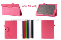 100 pcs/lot for Acer Iconia A3-A20 PU Leather Flip Reversal Stand Case Cover with Multi-Angle Stand