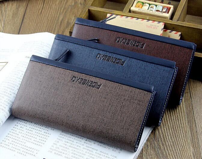 Новый уникальный бизнес мужчины кредитные карты сумка молния кошелек джентльмен клатч кошелек кожаная сумка