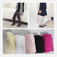 New girls lace leggings Candy color lace panty children's leggings korean trouser for children legging kids summer pants