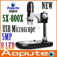Hot sale 8LED 800X USB  Microscope  5.0 mp Digital USB Microscope,Portable 800x Microscope Aopute AM800S 5.0 MEGA PIXELS
