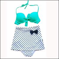 Black Dot Print Ladier Bikini Set Sexy Women Bathing Suit Bikini Brazilian Plus Size Swimwear Hight Waist Swimsuit Drop Ship