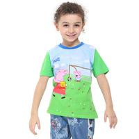 Summer 2014 new Pepe pig peppa pig Boy T-Shirt children C4676
