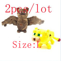 2pcs/lot Free shipping toys minecraft plush doll Children New Year gift Bat & Ocelot GG-9532687