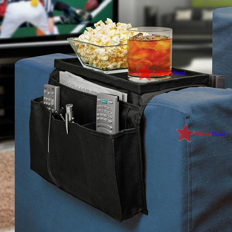 chinadeal Fitness!! 6 Pockets Arm Rest Organizer Remote Control Holder Table Bag Sofa Couch Storage quickly(China (Mainland))
