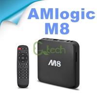 M8 Amlogic S802 Quad Core Android 4.4 Smart TV Box XBMC Media Player 4K HDMI