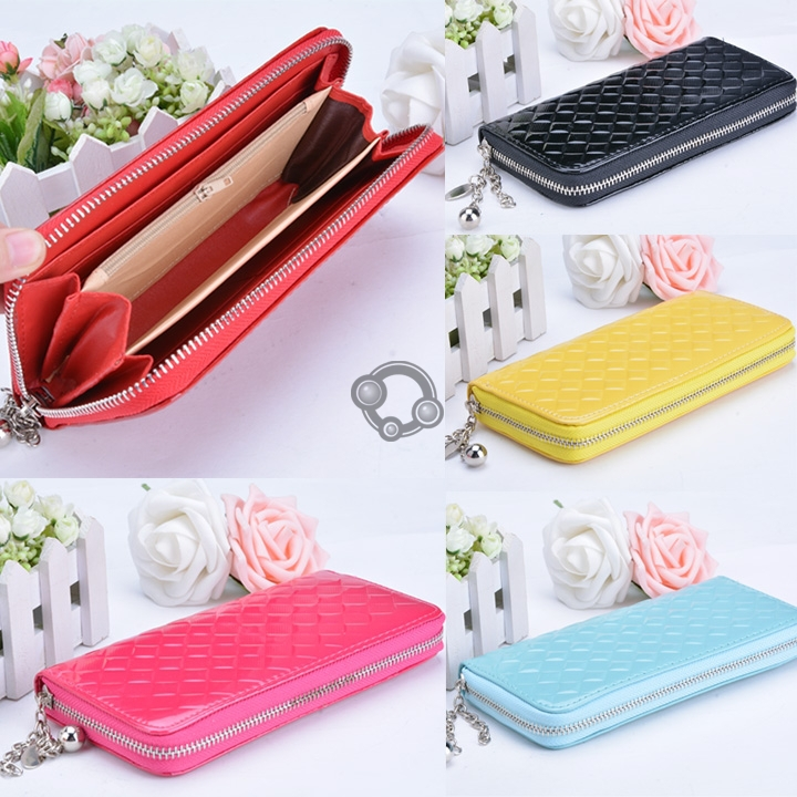 6 Colors Fashion Women Zip Clutch Case Lady Wallet For iPhone 5 5C 5S 6/6P Purse#(China (Mainland))