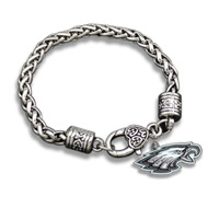 Wholesale 10 Pcs/Lot Antique Silver Plated Animal Casual  Philadelphia Eagles Bracelet Jewerly