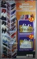Free shipping 60pcs/lot Amazing door hanging shoe bag 30 pairs over door hook as seen on tv Free shippig