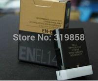 EN-EL14 digital batteries ENEL14 EN EL14 Camera Battery pack For Nikon D5200 D3100 D3200 D5100 P7000 P7100 MH-24 free shipping