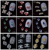 100Pcs/Lot Fashion 3D Metal Nail Art Decoration / Cellphone Rhinestone Glitters Decoration, 45 Styles For Choose + Free Shipping