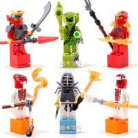 Good Quality Ninja mini figures 6pcs/lot building blocks boy toy free shipping