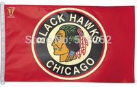 NHL Chicago Blackhawks Flag 3x5 FT 150X90CM Banner 100D Polyester flag 1105, free shipping