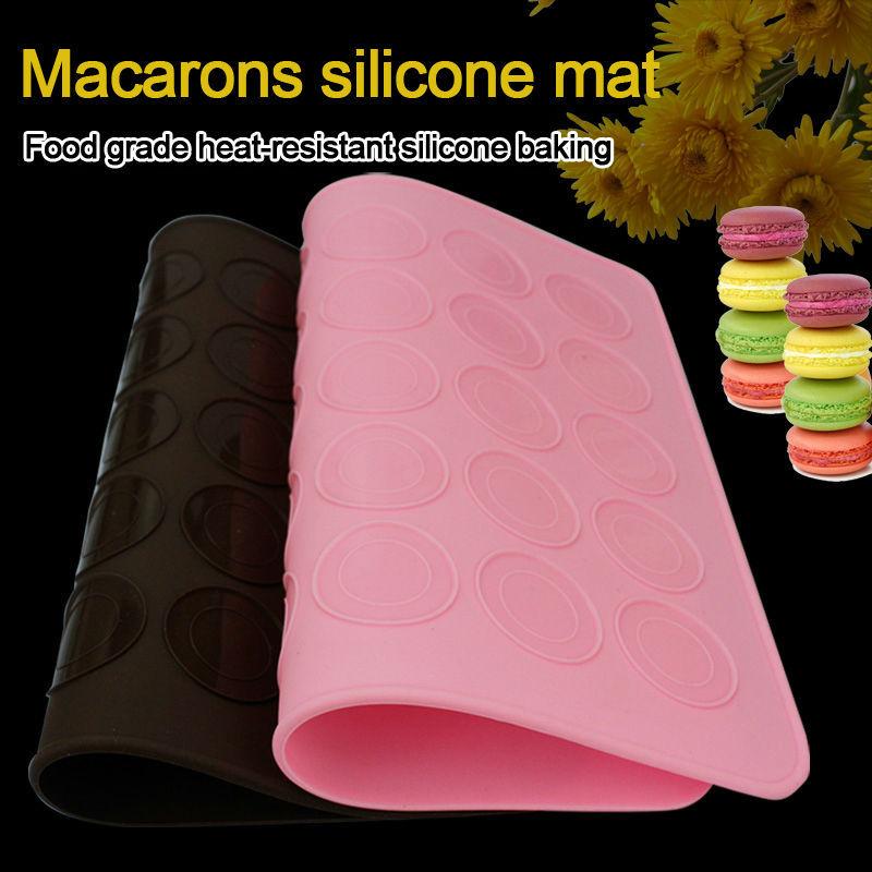 Neue Aktionspreis Größe 26*29cm Macaron silikonmatte weihnachten backformen Muffins/Mandeln runden kuchen-tools moldes de silicona