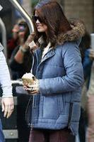 Winter Jacket Parkas Faux-fur Hooded Fleece Lined Coat Outwear for Women 2014 High Style Hot Selling  B7134Z Fshow