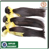 7A  Peruvian  hair unprocessed  peruvian   virgin hair straight 3pcs lot mix length free shipping