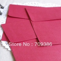 Wedding solid  red paper invitations envelope