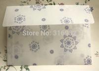 20pcs/lot 17.5*12.5CM snowflake parchment paper translucent Scrapbooking Paper Envelopes Vintage Mini Envelope Color
