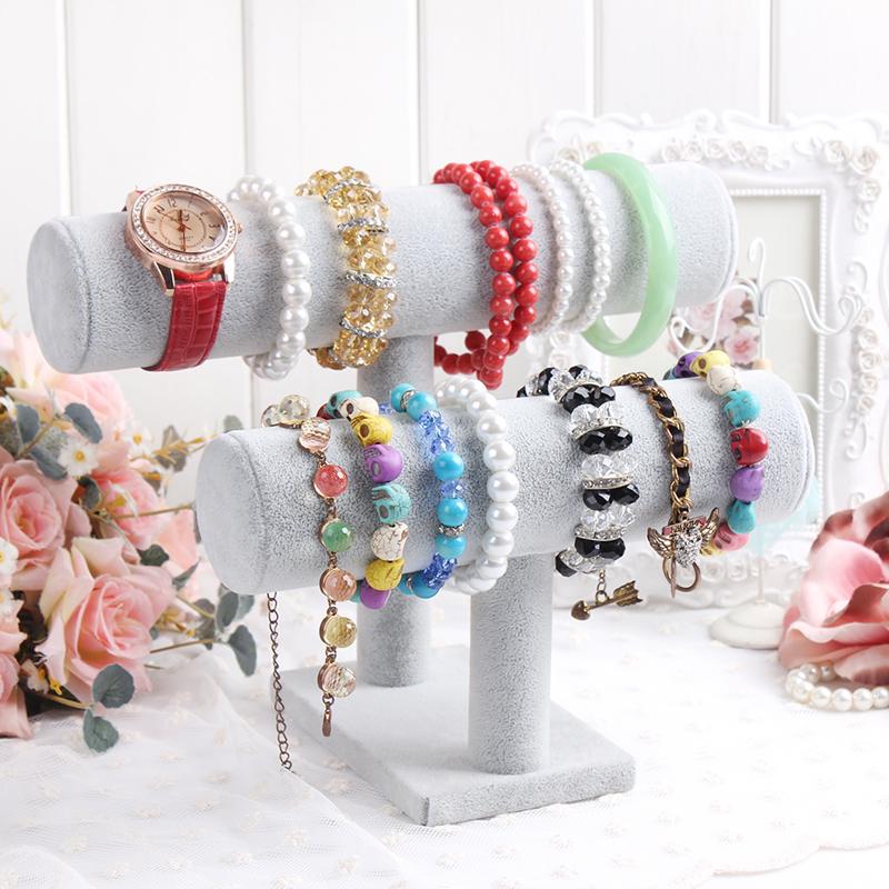 2014 Fashion and new 26cm x 22cm x 18cm Gray double layer Bangle, Bracelet , Jewelry Displays + Free Shipping(China (Mainland))