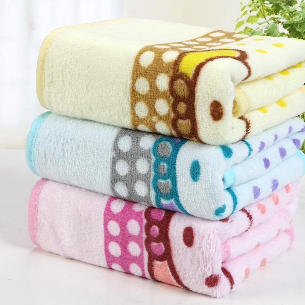 4pcs Wholesale 100% cotton cartoon face Towel 34cm*76cm piece set of sport towel beach towel for childrens(China (Mainland))