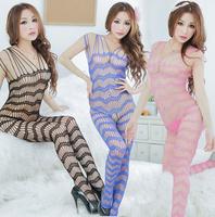 Siamese Lady Women Strap Erotic Open Crotch Lingerie Fishnet Bodystocking Teddies Bodysuits Nightclub Nightwear CA0073