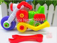 Free Shipping~2pcs/lot Disassembling beach motorcycle tinker toys Disassembling educational toys gifts