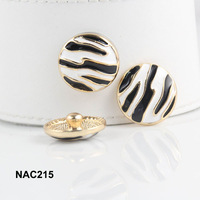 10pcs/lot zebra 18K gold plated snap button Interchangeable Ginger Snaps Jewelry for women NAC215