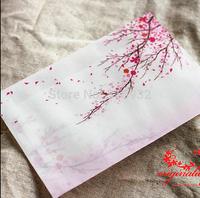 20pcs/lot 17.5*12.5CM flower Ink painting translucent Scrapbooking Paper Envelopes Vintage Mini Envelope Color