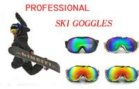 New brand ski goggles double lens anti-fog big spherical professional ski glasses unisex multicolor snow goggles