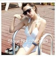 Sexy Fashion Girl Lady  backless Padded  Swimwear &Bikini  Swimming  /beach wear  White&Black