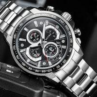Men Luxury Brand Full Steel Watch Quartz Men's Wristwatch Clock Male Man Watches Waterproof relogios masculinos army Clock