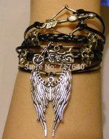 Handmade Leather Walking Dead themed Bracelet, The Archer, the Samurai, and the Ringleader #034