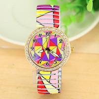 New Fashion Women Geometry Pattern STRETCHABLE WATCH For Women Dress Watches Quartz Watch AW-SB-1249