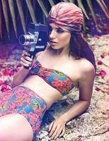 2014 New Bikinis Hot selling Vintage High Waist Bikini Swimwear Women Bandage Swimsuit Push Up Bikini Set Brand Swimwears S-L