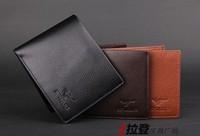 Men's leather wallet purse wholesale casual short