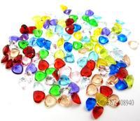 "12PCS ""Heart"" Floating Charms 5mm Rhinestone Birthday Stone,Locket Jewelry Pendant For Necklace Zinc Pendant"