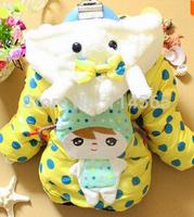 2014 New Winter Baby Clothes Panda Rabbit Baby Boys Baby Girls Outerwear Infant Cartoon Down Coat C04