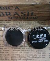 2015 Hot Sale Black Waterproof Eyeliner Gel Long-Lasting Natural Makeup Cosmetic Eye Liner + Brush Makeup Set
