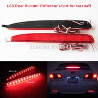 2X24SMD LED Rear Bumper Reflector Light Added on Tail Brake Fog Light Set for 03-08 Mazda6 Atenza