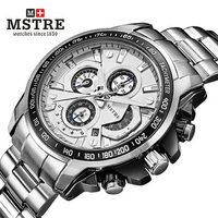 Genuine  waterproof watches men fashion versatile outdoor sport waterproof chronograph quartz watch stainless steel wristwatches