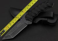 C.JUL HERBERTZ G10 Handle Sone Wash Square Blade Full Tang  Survival Knife Tactical hunting knife camping knife knives TDF049