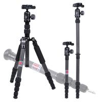 "MANBILY CZ-305 Professional portable travel Camera&DV tripod Carbon Fiber tripod+Wireless Remote Shutter,61.2"""