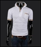 2014 Summer Fashion New T-shirt Men Short Sleeve Slim Fit Top Tees Plus Size T Shirt Men's Casual Tshirt Free Shipping JMY22