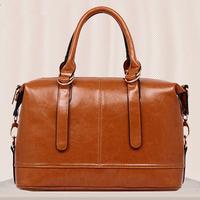 Women Oil Wax Leather Bag Tote Fashion Women Shoulder Bag New Handbag Hot PU Leather Crossbody Bag Vintage Messenger Bags