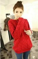 0088  Vivi magazine 2014 handmade sweater outerwear autumn and winter pullover loose women's top