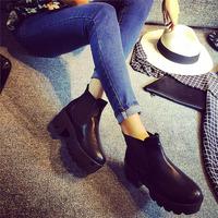 2014 autumn high-heeled boots fashion platform high-heeled shoes thick heel round toe martin boots