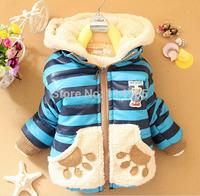 2014 New Winter Baby Clothes Panda Rabbit Baby Boys Baby Girls Outerwear Infant Cartoon Down Coat C03