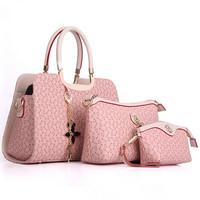 Fashion Women Handbag 2015 PU Leather Shoulder Bag Three-Piece Women Crossbody Bag Elegant Clutches Female Messenger Bags