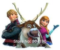 Frozen Princess Anna Sven Kristoff Girls Snow Queen Iron On Transfers Film TV MOVIE Cartoon Patch Logo Badge Free Shipping