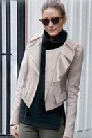 Black/Khaki Ruffled Detail Splicing Slim Fit Coat High Style Autumn Winter Overcoat High Quality B7132Z Fshow